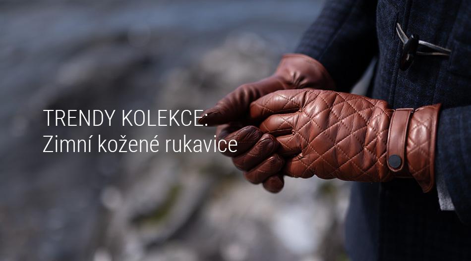 Trendy kolekce - Zimní kožené rukavice