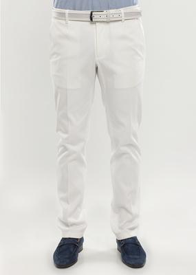 Pánské kalhoty slim, barva bílá