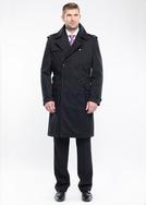 Pánský plášť city regular, barva černá