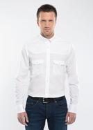 Pánská košile city slim, barva bílá