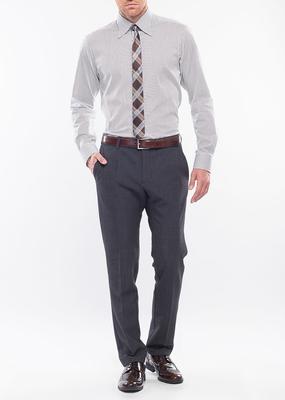 Pánské kalhoty formal slim, barva šedá