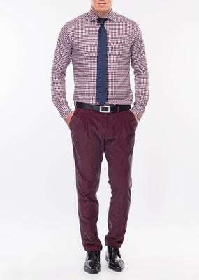 Pánské kalhoty formal slim, barva vínová