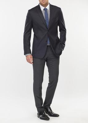 Pánské sako formal slim, barva modrá