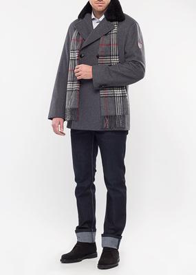 Pánský plášť city regular, barva šedá