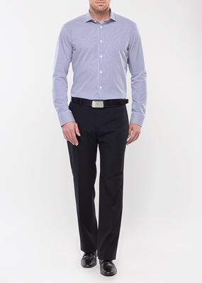 Pánská košile formal slim, barva bílá,modrá