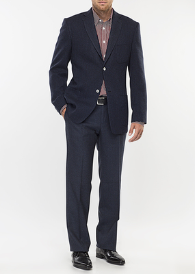 Pánské sako city regular, barva modrá