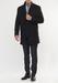 Páský plášť formal slim, barva černá