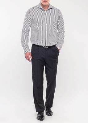 Pánská košile formal regular, barva černá, bílá