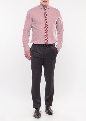Pánská košile formal slim, barva červená