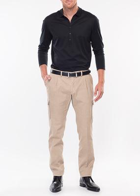 Pánské kalhoty city slim, barva béžová