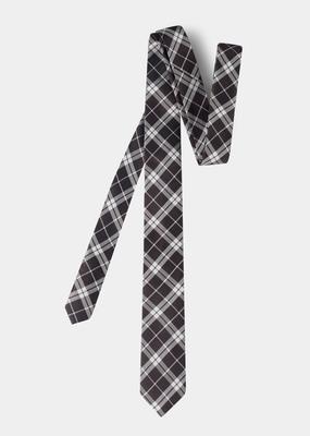 Pánská kravata formal slim, barva hnědá