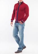 Pánský svetr city regular, barva červená
