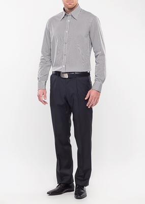 Pánská košile city regular, barva černá, bílá