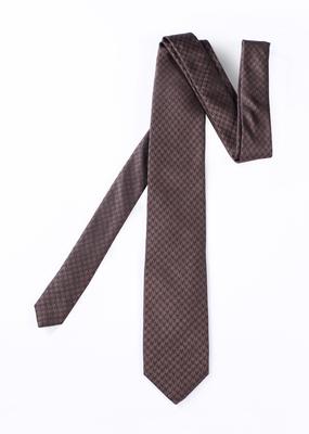 Pánská kravata formal , barva hnědá