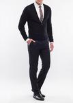 Pánský svetr formal slim, barva černá