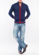 Pánský svetr city regular, barva modrá