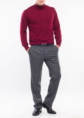 Pánský svetr formal regular, barva červená
