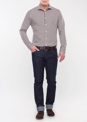 Pánská košile formal slim, barva hnědá