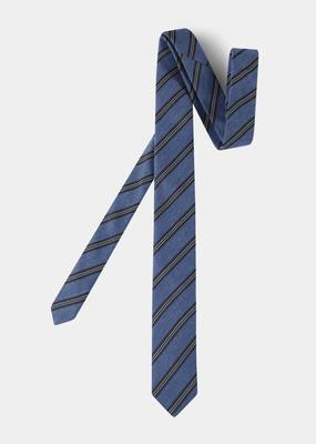 Pánská kravata formal slim, barva modrá