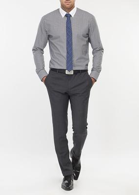 Pánská košile formal slim, barva bílá, černá