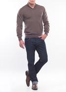 Pánský svetr formal regular, barva hnědá