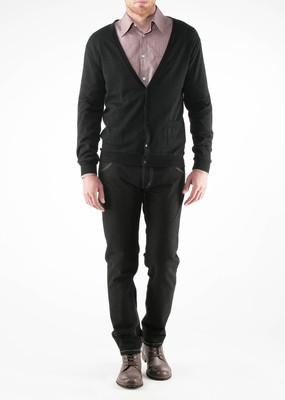 Pánský svetr Jeans slim, barva černá