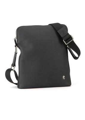 Pánská kožená taška informal , barva modrá