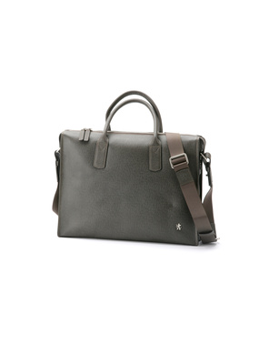 Pánská kožená taška informal , barva šedá