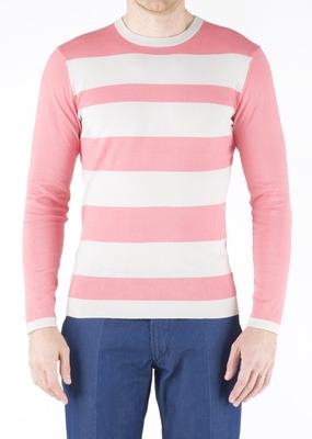 Pánský svetr  slim, barva růžová