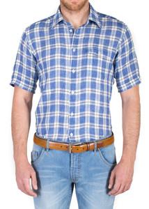 Pánská košile jeans slim, barva modrá