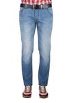 Pánské kalhoty  jeans slim, barva modrá