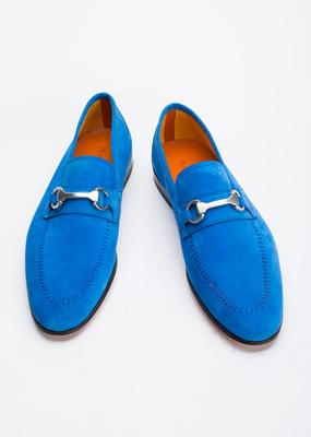 Pánská kožená obuv informal , barva modrá