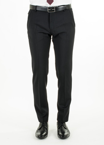 Pánské kalhoty  informal slim, barva černá
