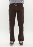 Pánské kalhoty   slim, barva hnědá