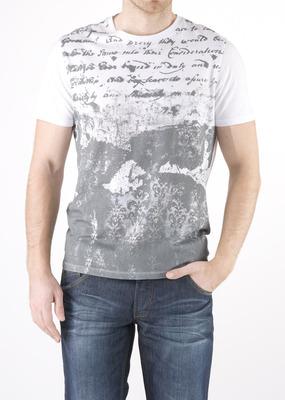 Pánské triko jeans slim, barva bílá