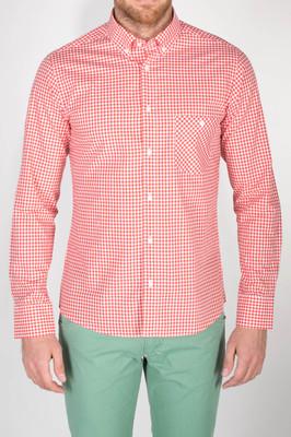 Pánská košile  slim, barva červená