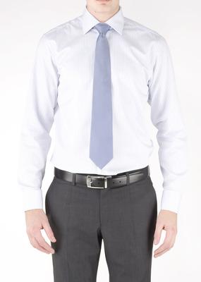 Pánská košile formal regular, barva modrá, bílá