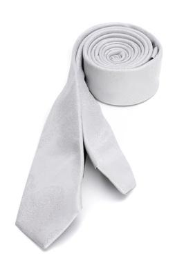 Hedvábná kravata formal slim, barva šedá