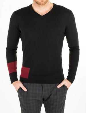Pánský svetr informal slim, barva černá