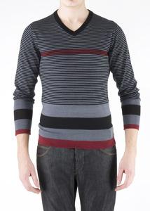 Pánský svetr informal slim, barva šedá