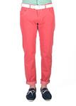 Pánské kalhoty   slim, barva červená