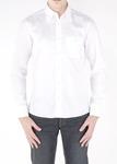 Pánská košile jeans slim, barva bílá
