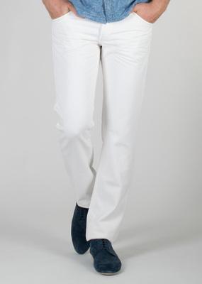 Pánské kalhoty  jeans slim, barva bílá