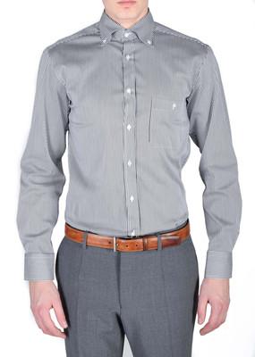 Pánská košile informal regular, barva černá, bílá
