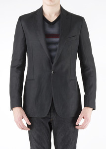 Pánské sako informal slim, barva černá