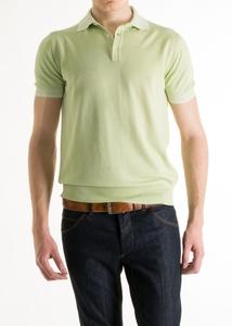 Pánský svetr informal slim, barva zelená