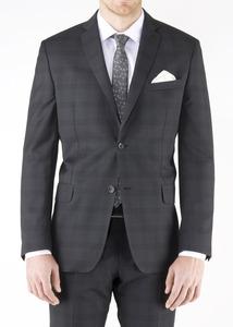 Oblekové sako formal slim, barva šedá
