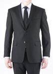 Oblekové sako formal regular, barva černá