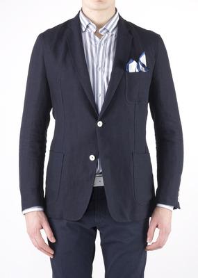 Pánské sako  regular, barva modrá