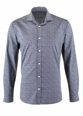 Košile Blažek Jeans slim, barva šedá